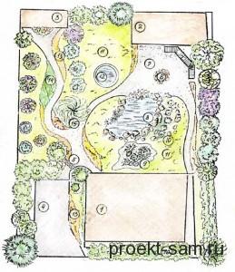 план дачного участка 4 сотки