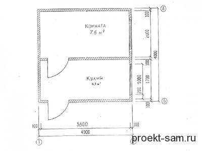 план дома 4x4