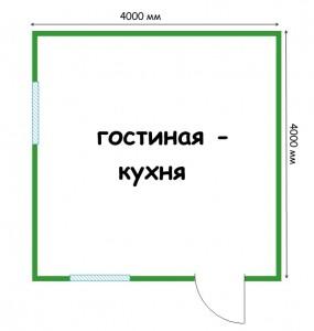 план дачного домика 4 на 4