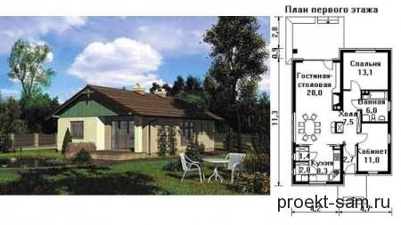 планировка дома из пеноблоков до 150 кв м