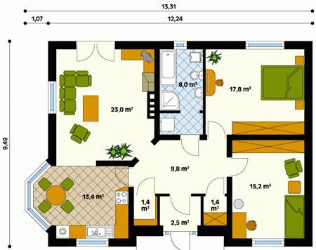 схема и план дома