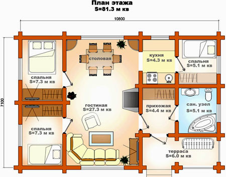проект дома из делезобетона