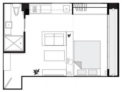 Квартиры студии схема