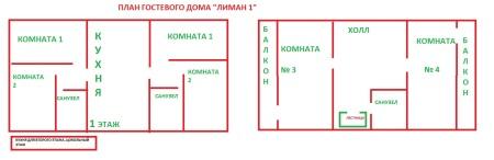 планировка гостиницы в частном доме