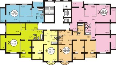планировка многоэтажного дома