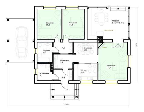 план одноэтажного дома до 250 кв. м.