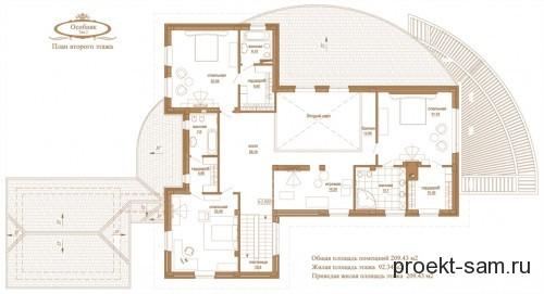 план особняка 2 этаж