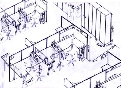 план офиса с расстановкой мебели