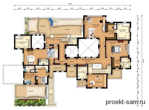 план виллы 2 этаж