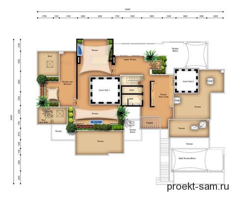 план виллы 3 этаж
