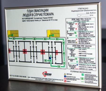 рамка план эвакуации