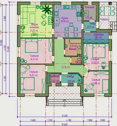 план дом терраса