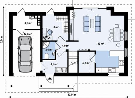 планировка компактного дома