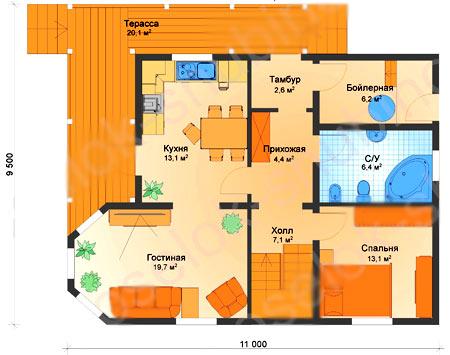 план дома с бойлерной