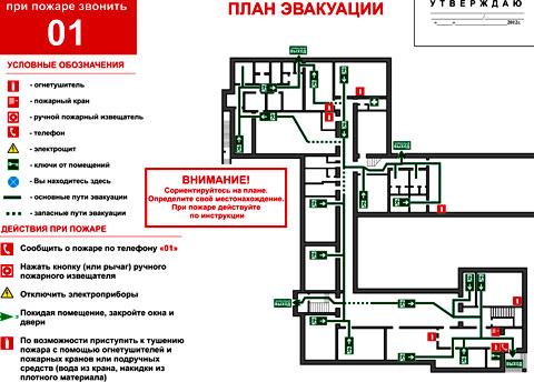 организация плана эвакуации