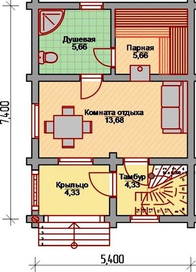 план деревянной бани