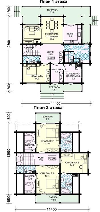 планировка деревянного дома