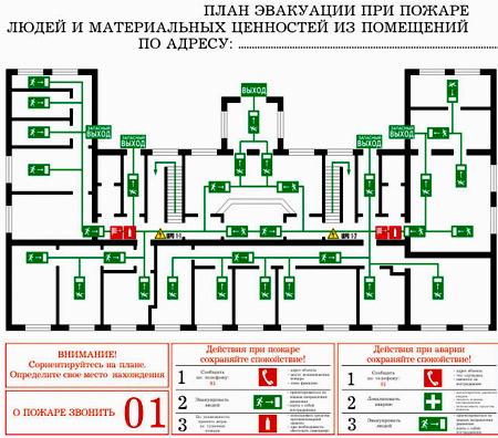 план эвакуации техники