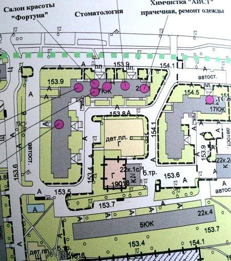 план придомовая территория