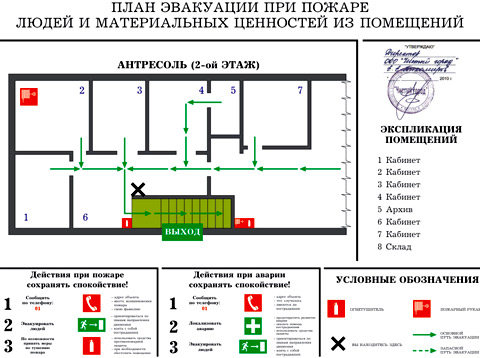 план эвакуации ресторан