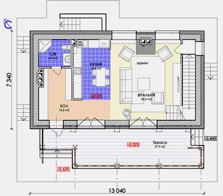 планировка скандинавского дома