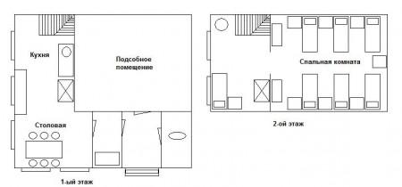 план охотничьего дома