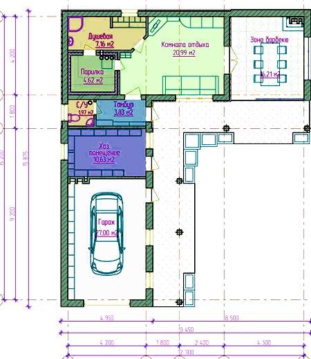 план гараж баня дом