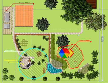 планировка наш сад