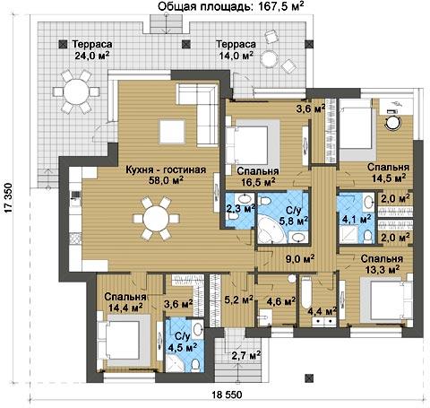 планировка скандинавский дом
