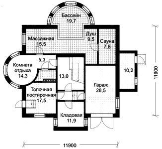 планировка дома баня гараж