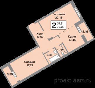 планировка двухкомнатной квартиры 70 кв м