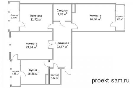 планировка трехкомнатной квартиры в новостройках