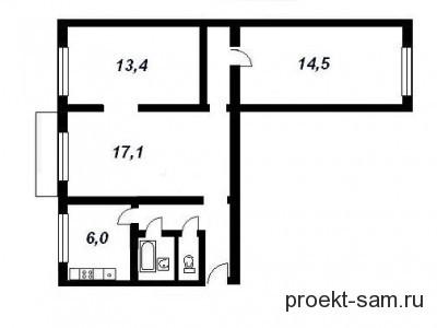 планировка трехкомнатной небольшой квартиры распашонки в панельном доме