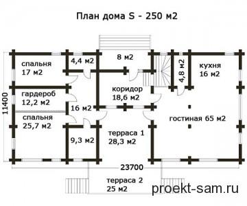планировка дома 250 кв м