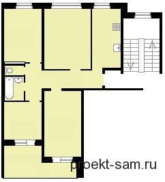 планировка 2-х комнатной квартиры в панельном доме 83 серии