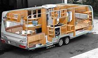 внутренняя планировка дома на колесах