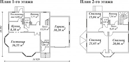 планировка двухэтажного кирпичного дома