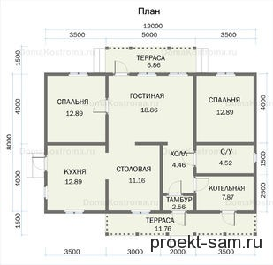 планировка финского дома из сруба 8 на 12