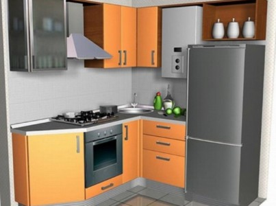 планировка кухни с газовой колонкой