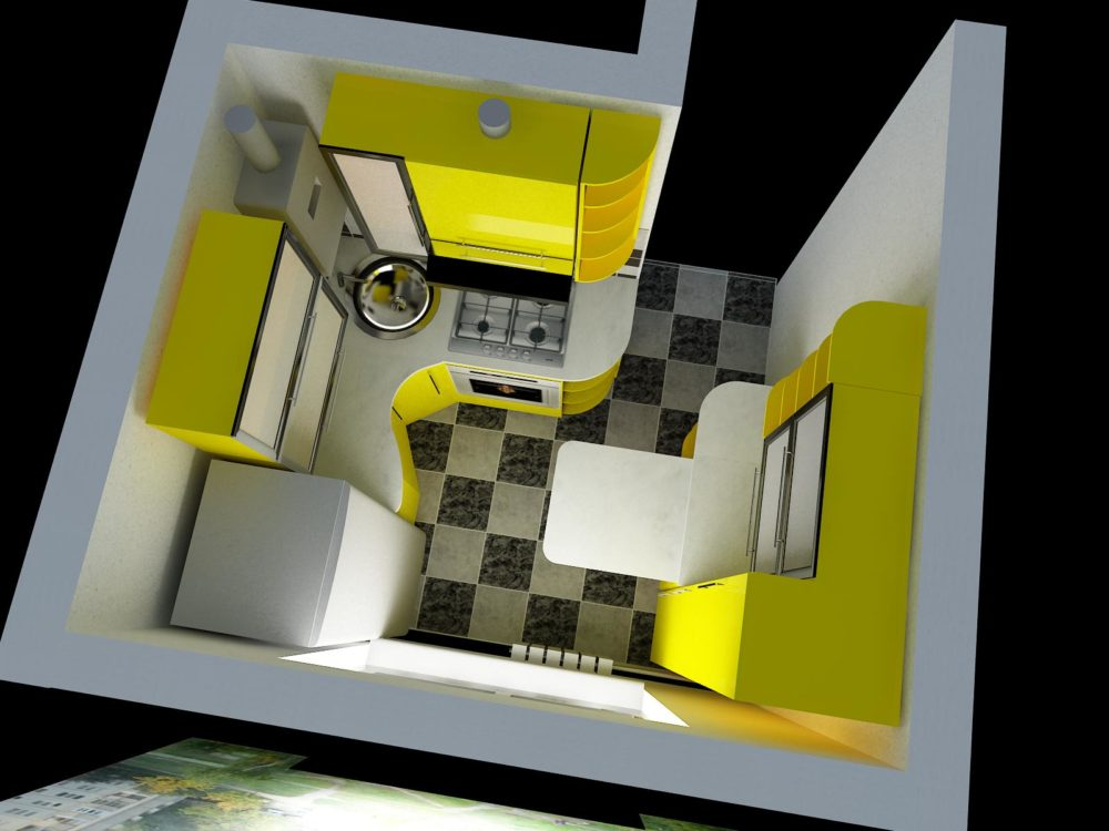 Дизайн маленькой кухни 4 кв м с