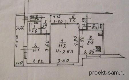 планировка квартиры усеченная трешка