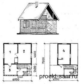 планировка летнего домика