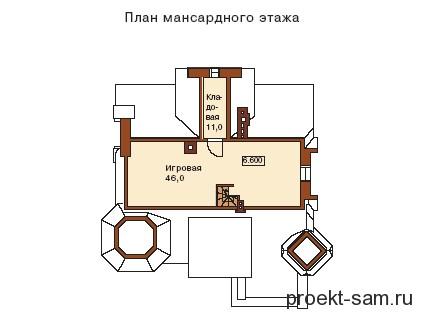 планировка мансарды на 3-м этаже