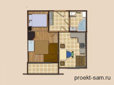 планировка однокомнатной квартиры для молодой семьи с ребенком