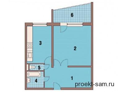 планировка однокомнатной квартиры с лоджией