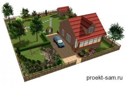 планировка земельного участка с хозяйственными постройками