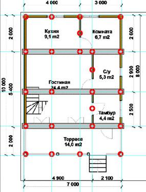 планировка дома с винтовым фундаментом