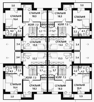 планировка таунхауса