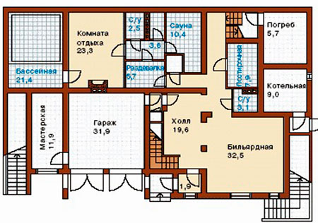 план нулевого этажа