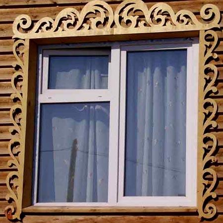 пластиковые окна резные наличники